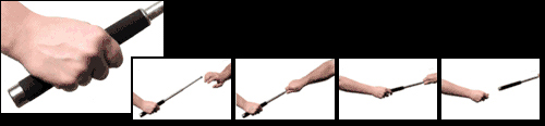 how to close a friction lock baton
